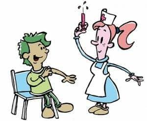 兒童在校接種流感針